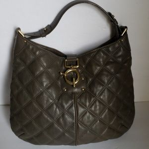 J. CREW Quilted Leather Hobo
